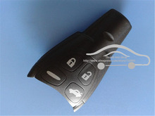 Top Quality Soft Rubber Buttons Fits to SAAB 93 95 9-3 9-5 Replacement Remote Key FOB Casing Shell
