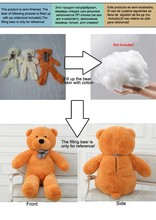 Wholesale bear enclosure Teddy Bear Fur shell plush toy 60cm birthday Valentine's Day gift white yellow brown(China)