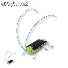 Abbyfrank Grasshopper Solar Toy Solar Green Powered Toy Crazy Grasshopper Cricket Insect Gadgets Juguetes Solares Animal Toys(China)