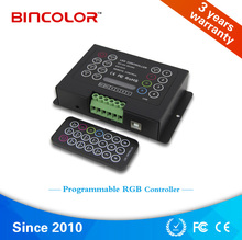 Programmable 350mA 12-48V 3CH IR Remote RGB led Controller
