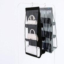 New Fashion 2 Colors Large Capacity Hanging Type Bag Wardrobe Handbag Organizer Purse Multi-layer Dust Storage Bag(China)