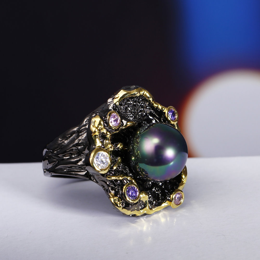gothic pearl rings (4)