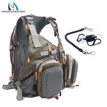 Fly Fishing Vest Fishing Backpack Outdoor sports Backpack Bag Adjustable Belt(China)