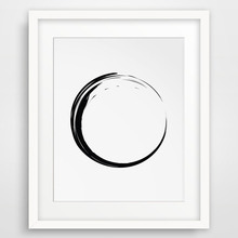 Zen Circle Wall Prints, Black and White Poster Canvas Wall Art Oil Paintings Wall Pictures for Living Room Home Decor No Frame