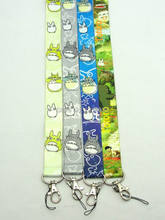 Mixed 200 Pcs Popular My Neighbor Totoro Lanyards Neck Strap Keys Camera ID Card Lanyard Mobile Phone Neck Straps
