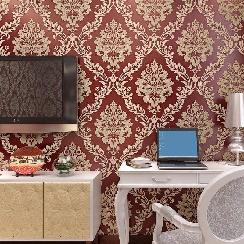 beibehang embossed Large flowers wallpaper for living room wall papers home decor papel de parede 3D wallpaper for walls 3 d<br>