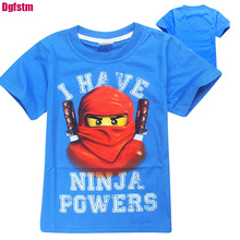 Summer Kids Boys T-shirt Ninja batman i have Ninjago power cute printed T Shirt Children Clothing Cotton Boys sport shirts black(China)