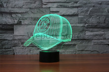 7Colors Changing MLB OAKLAND ATHLETICS LED Nightlights 3D Baseball Cap Desk Table Lamp USB Bedside Lamps Home Decoration