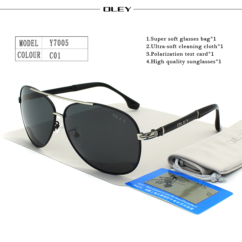OLEY Luxury sunglasses men polarized Classic pilot Sun glasses fishing Accessories driving goggles gafas de sol zonnebril mannen 5