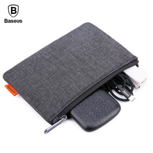Baseus Mobile Phone Pouch Bag For iPhone Samsung Xiaomi Cloth Fabric Storage Package Handbag For Cell Phone Accessories Bag Case(China)