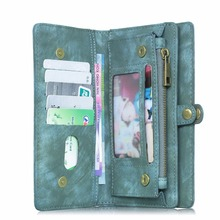 MEGSHI Luxury Genuine Flip Leather Case For LG G6 Detachable Multi-function Zipper With Card Holder For G5 G4 G3 Phone Case Bag(China)