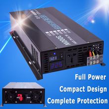 digital LED display 12v 3000w inverter pure sine wave 110v dc voltage converter generator car power inverter home solar inverter