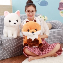1pc 40cm Cute Fat Stuffed Plush Long Tail Fox Toys Dolls Kawaii Plush Toy Children Friends Gifts(China)