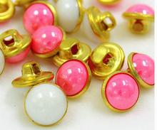 10mm Pure copper color plastic bead children shirt button buttons 200pcs/lot free shipping(China)
