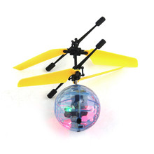 Creative RC Electric Flying Ball Drone Helicopter Indoor Built-in Disco Music With Shinning Colorful LED Lighting For Kids Child