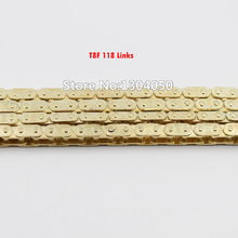 T8F 118 LINKS CHAIN GOLD CHAIN DIRT BIKE G-SCOOTER 49CC MINI ATV QUAD CHOPPER POCKET BIKE