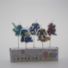 5 PCS/lot Transformers The new creative cartoon birthday candles holiday party cake decorating supplies