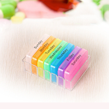 Multicolor 7 Days Drawer Style Pill Medicines Box Tablet Dispenser Organizer Case Container 2B(China)