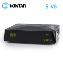 [Genuine]10pcs S-V6 Mini HD Satellite Receiver Support CCCAMD Newcamd WEB TV USB Wifi 3G Biss Key S V6 Free Shiping