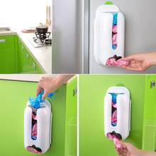 Home Useful Wall Mount Plastic Carrier Bag Storage Container Holder Organizer Recycle Box 30*13*7.5cm Hot Sale