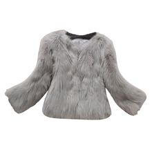 2017 Women Fake fur Coat Solid Short Style Elegant Slim Jacket Winter Long Sleeve Warm Clothes Plus Size Faux Fur coat(China)