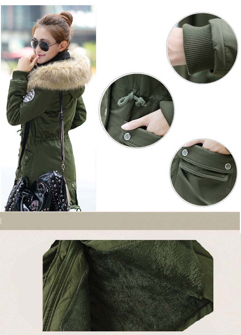 معطف السيدات متوسطة الطويلة 2