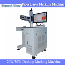 Good quality 20W/30W metal fiber laser marking machine benchtop marking machine for watch,camera,phone marking for sale(China)