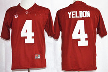 Nike 2015 Alabama Crimson Tide No. 4 T.J Yeldon Diamond Quest College Ice Hockey Jerseys Playoff Sugar Bowl Special Event Jersey(China)