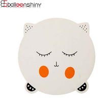 BalleenShiny Japan Style Wooden Placemat Cat Shape Cup Mat Coffee Coaster Table Mat Pad For Kids Kitchen Accessories Decorations(China)