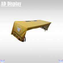 Exhibition Booth Advertising 6ft Loose Fit Table Cover/Table Cloth/Table Throw Three Side Full Color Heat Transfer Printing(China)