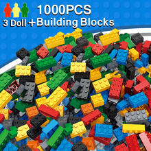 Building Blocks 1000pcs DIY City Creative Bricks Toys model Compatible With legoe Educational Bulk Bricks Gift for Children(China)