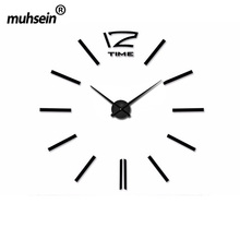 2017 muhsein Home Decoration Big Mirror Wall Clock Modern Design Large Size Wall ClocksDIY Wall Sticker Wall Clock Unique Gift(China)