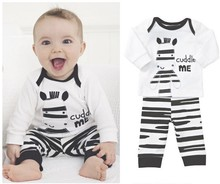 retail 2014 autumn zebra clothing suit for children/kids baby boy,tshirt + pants set,sport suit clothes,fall pajamas,baby romper