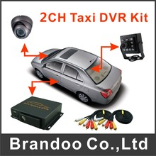 2CH Taxi DVR Kit Mobile DVR For Car Vehicle Truck Used With 2 Camera(China)