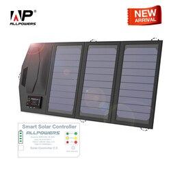 Портативное зарядное устройство для солнечной батареи ALLPOWERS 5 V 15 W Dual USB + type-C портативное солнечное зарядное устройство на открытом воздухе ...