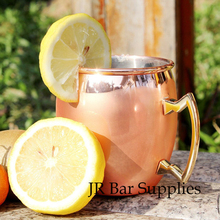 Free Shipping Smooth Moscow Mule Mug Handmade Copper Plated Cup 18Oz Capacity For Cocktail Beer Coffee Stainless Steel Lining(China)