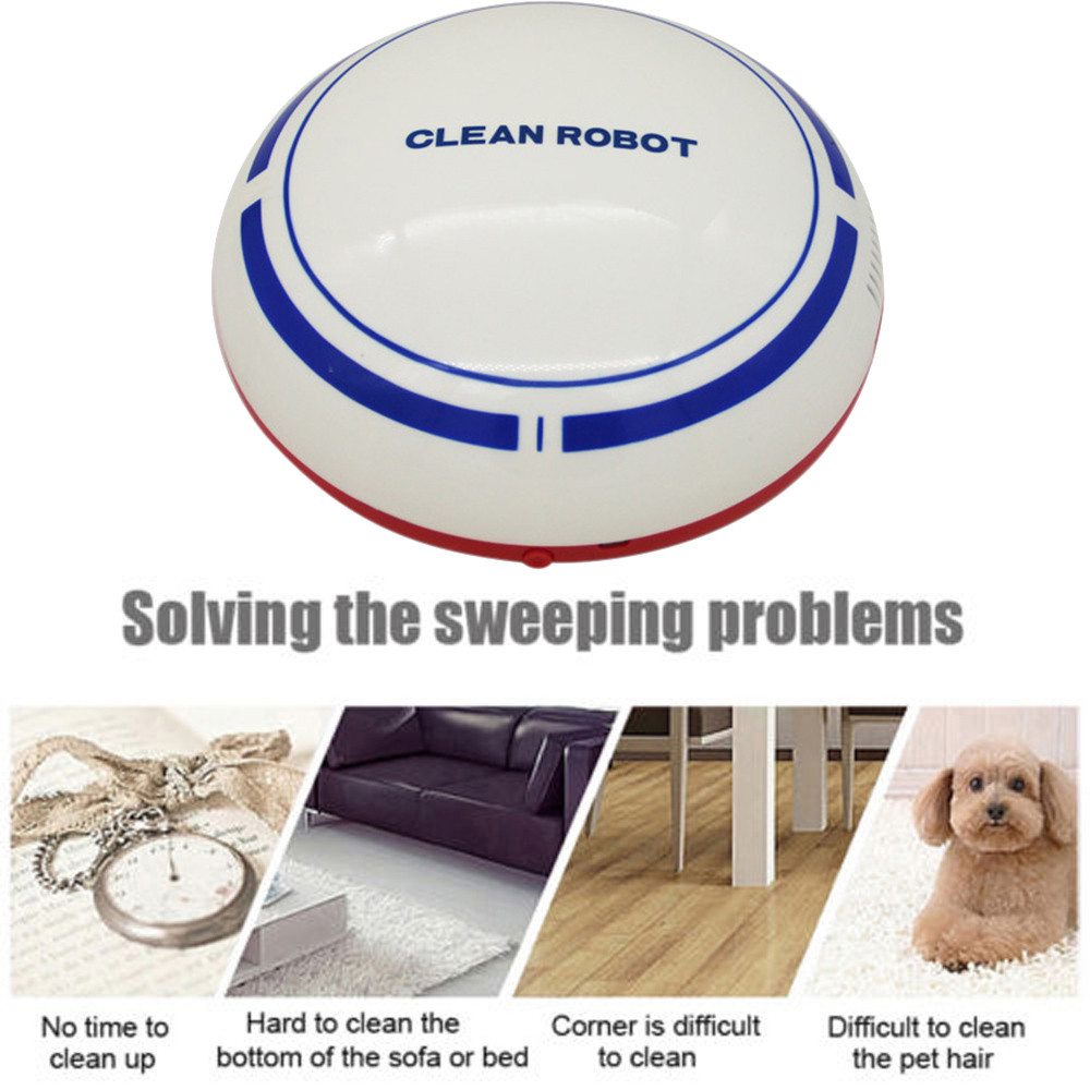 Automatic USB Rechargeable Smart Robot Vacuum Floor Cleaner Sweeping Suction Automatic Cleaning machine Gifts Idea for Mother(China)