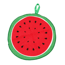 New Hanging Kitchen Hand Towel Lovely Fruit Print Microfiber Towels Quick-Dry Cleaning Rag Dish Cloth Wiping Napkin QB891908