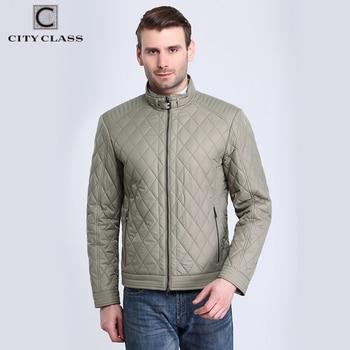 City Class 2017 Top Nouveau Printemps Automne Hommes de Veste Courte Manteau D'affaires Stand Col De Mode Matelassé Outwear Livraison Gratuite 15128