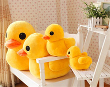 New PP Cotton Yellow Duck Genius Plush toy Duck Doll Baby Toy Free shipping(China)