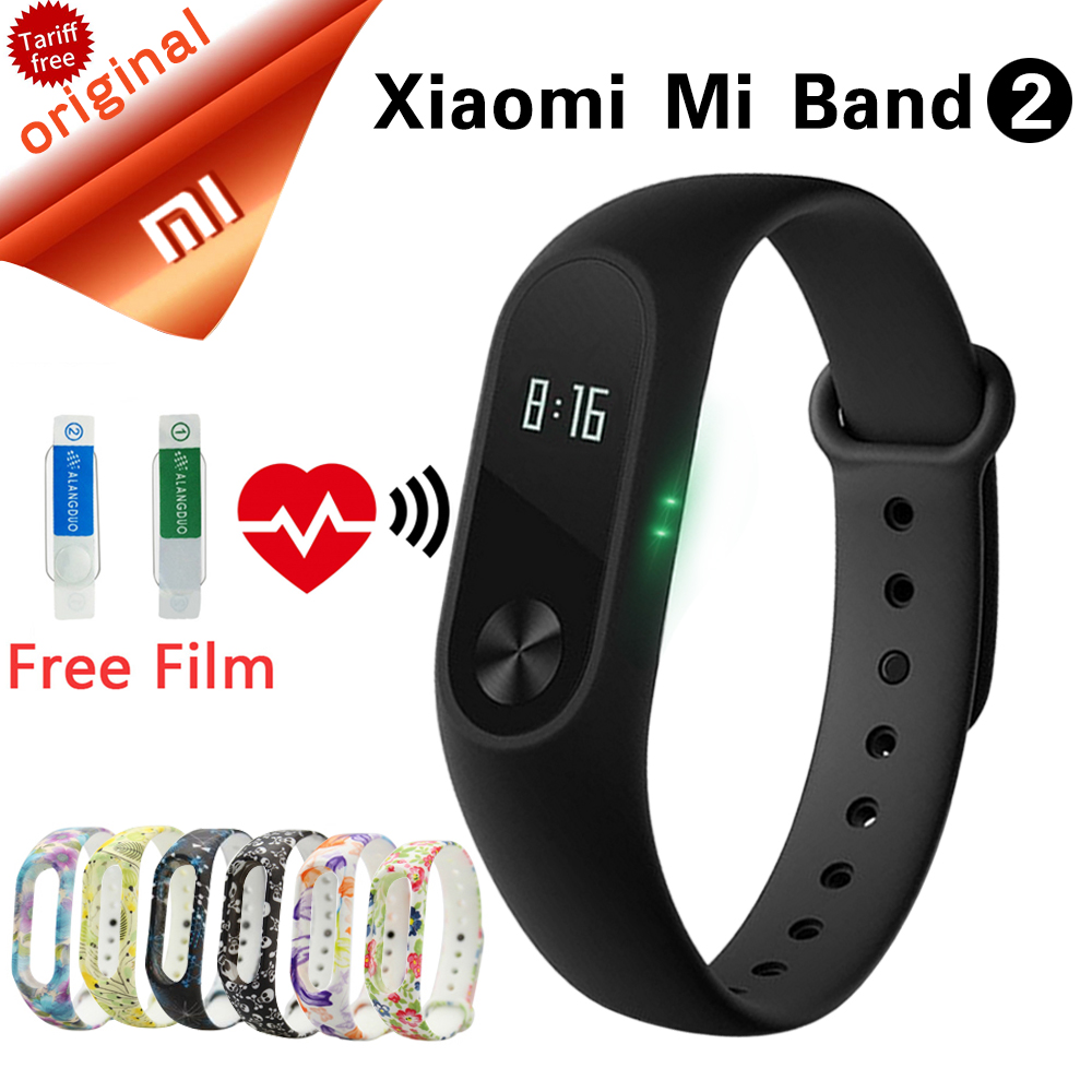 Original Xiaomi Fitness Bracelet Miband2 Watches Wristband Xiaomi Miband 2 OLED Sleep Monitor With Heart Rate Smart Wristbands<br>