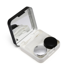 1PC Unisex Contact Lens Box ABS Plastic Reflective Contact Mirror Lens Box Portable Travel Container Holder Storage Soaking Case(China)