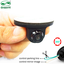 GreenYi Mini CCD Coms HD Night Vision 360 Degree Car Rear View Camera Front Camera Front View Side Reversing Backup Camera(China)