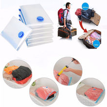 1PC Transparent Large Vacuum Storage Bags Foldable Reusable Space Saving Clothes Travel Compressed Bag Home Organizer