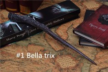 Hot Sale Bellatrix Lestrange Bella Magic Wand Harry Potter Collection Wizard Stick Death Eater COSPLAY Game Shows Toy Gift #1(China)