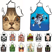 1Pcs Fashion Sexy Man Women Printed Apron Bibs Home Cooking Baking Party Funny Cleaning Aprons Kitchen Accessories 46094(China)