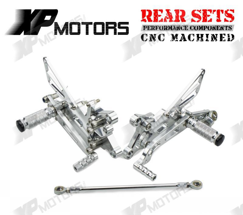 New Arrived Silver CNC Adjustable Foot pegs  Footrests Rear Sets For Yamaha YZF-R6 2006 07 08 09 10 11 2012 2013 2014 2015<br><br>Aliexpress