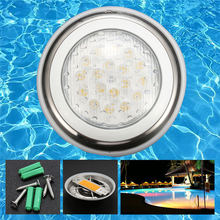 18W Stainless Steel Swimming Pool Lighting RGB Pool Lamp Disco Party Spa Bath Pond Pool Lights Piscina LED Underwater light Pond(China)