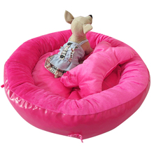 Cotton Round Style Pet Dogs Bed Three Color Selection Free Shipping Bed for dog(China)