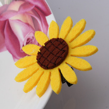 Wholesale Sweet Daisy Flowers Hairpins Barrettes For Girls Headwear Elastic Hair Bands Hair Clips Accessories Scrunchy Holder(China)